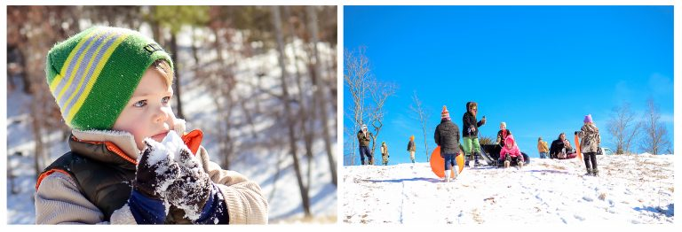 Tennessee winter ~Sliding party!