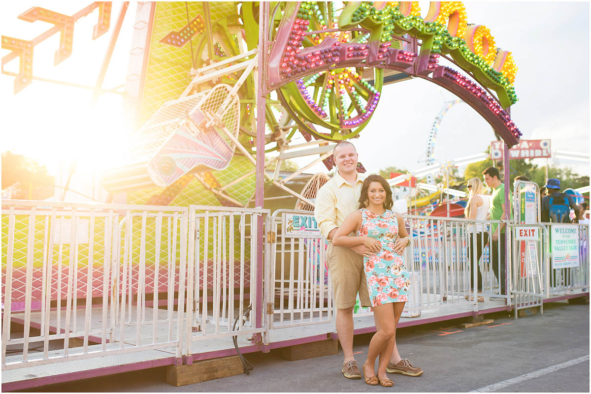 Fair themed couples session   Tennessee Valley Fair