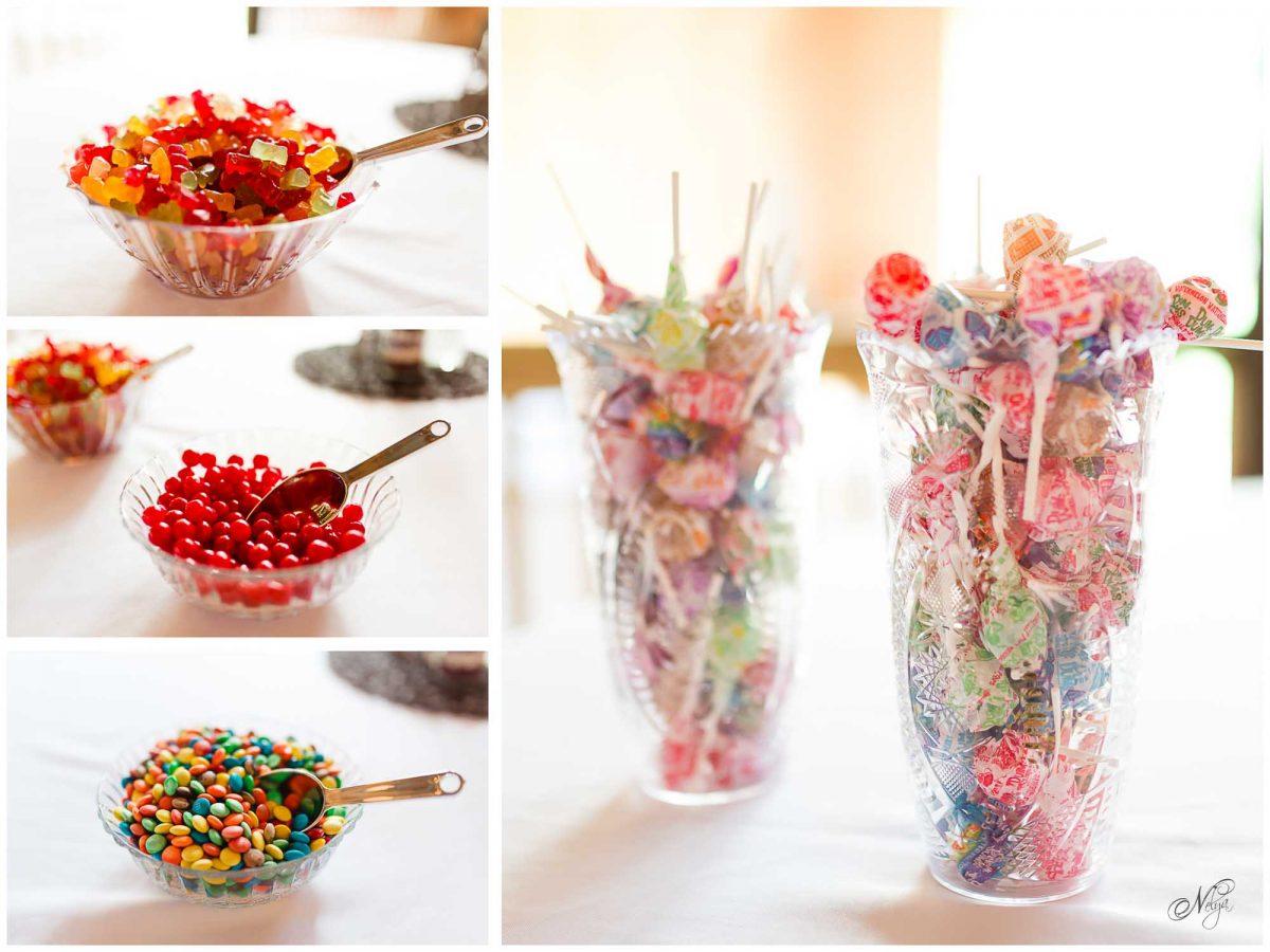 candy wedding favors at Stinnett Farm wedding venue