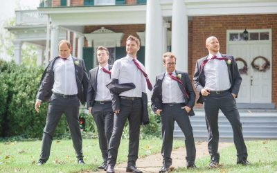 groomsmen giving the GQ look