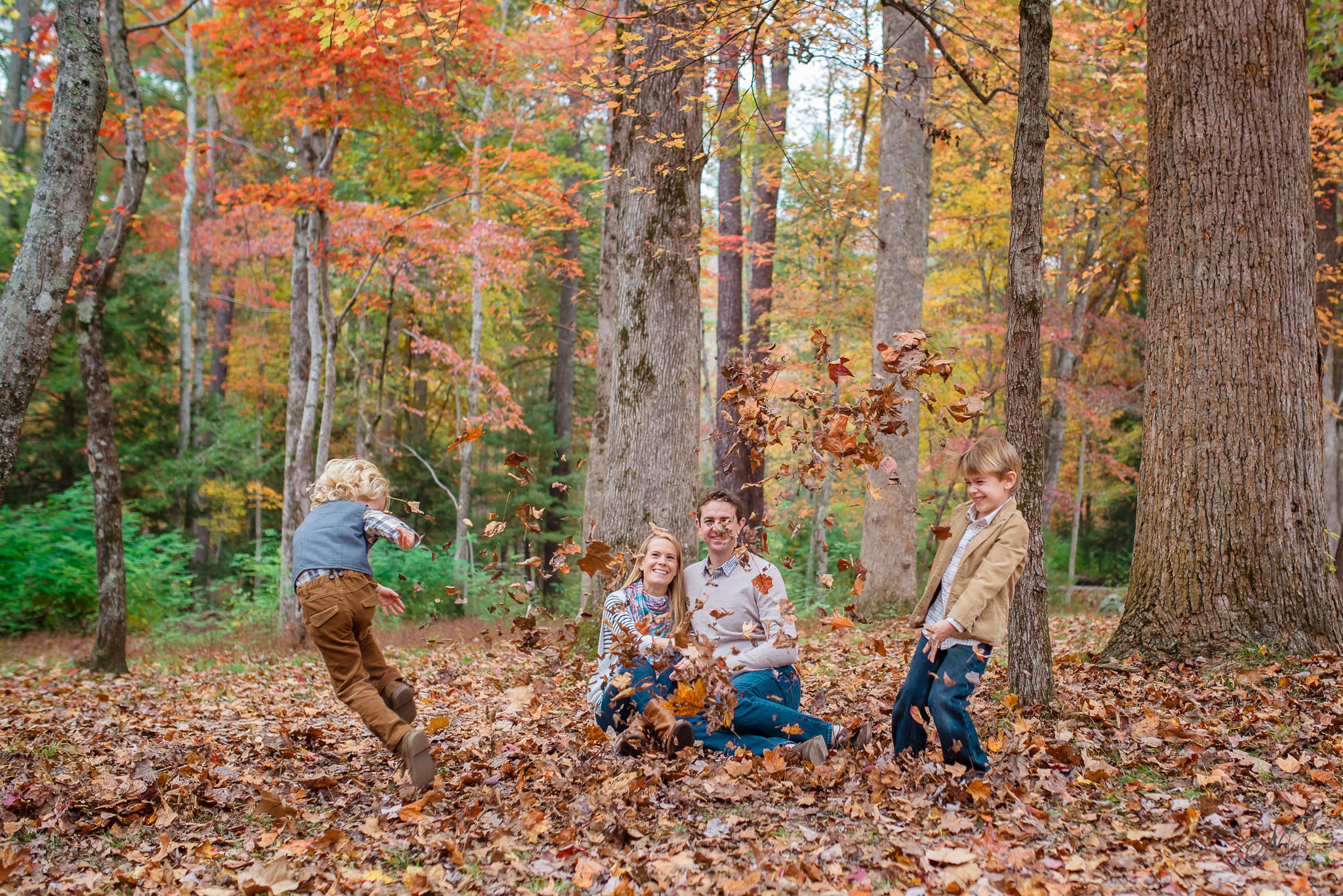 Smoky mountain fall family photos-10