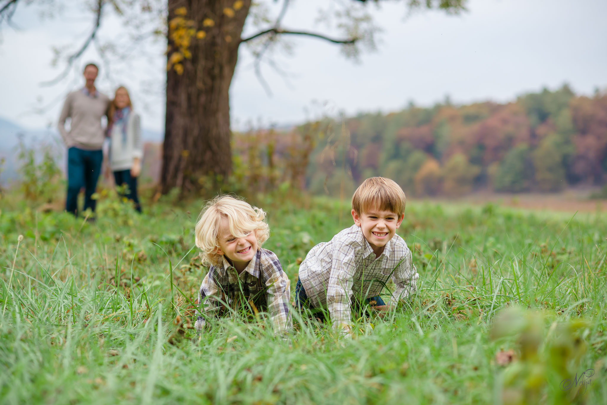 Smoky mountain fall family photos-20