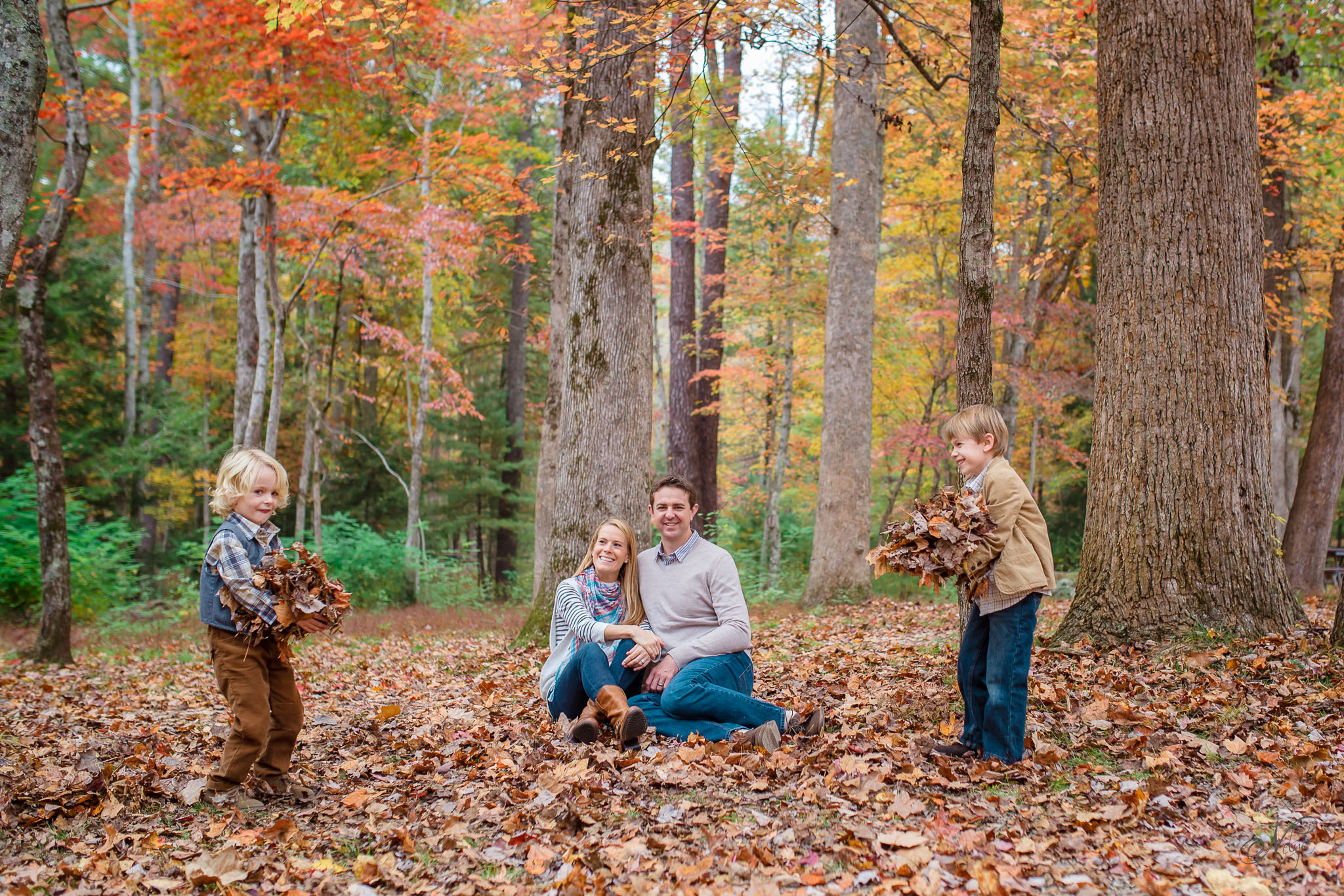 Smoky mountain fall family photos-9