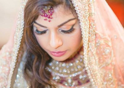 south Asian bride eyes