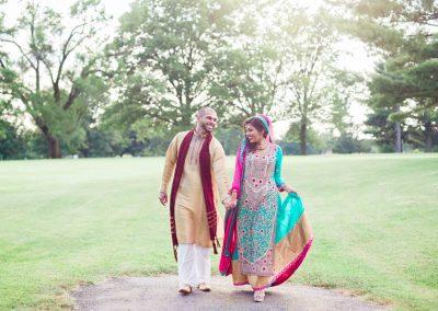 indian wedding portraits outside
