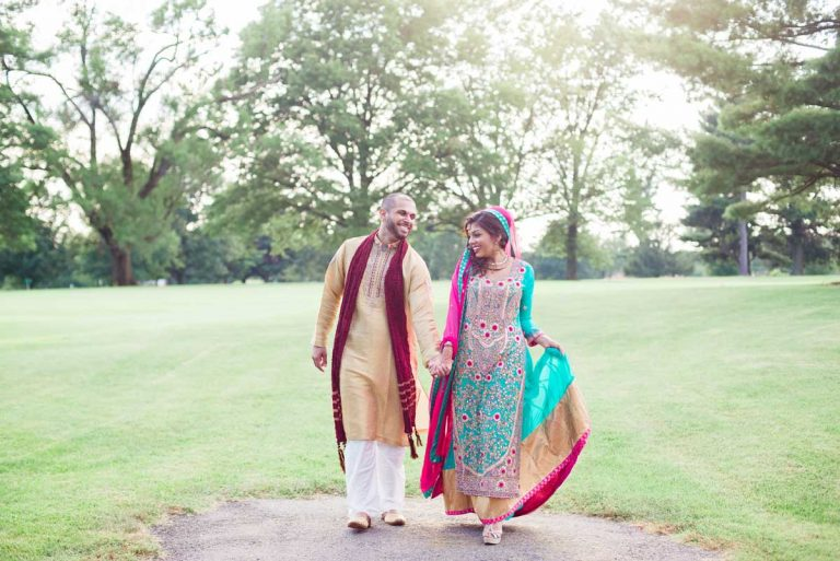indian wedding portraits outside