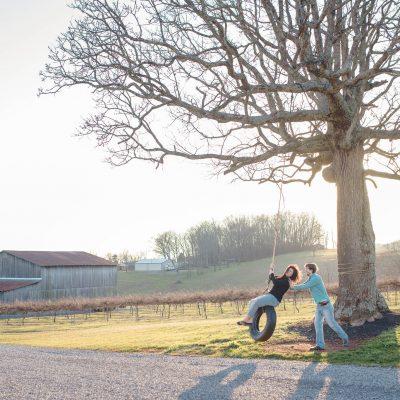 Tsali Notch Vineyard Madisonville TN Engagement: Tiffany + Robert