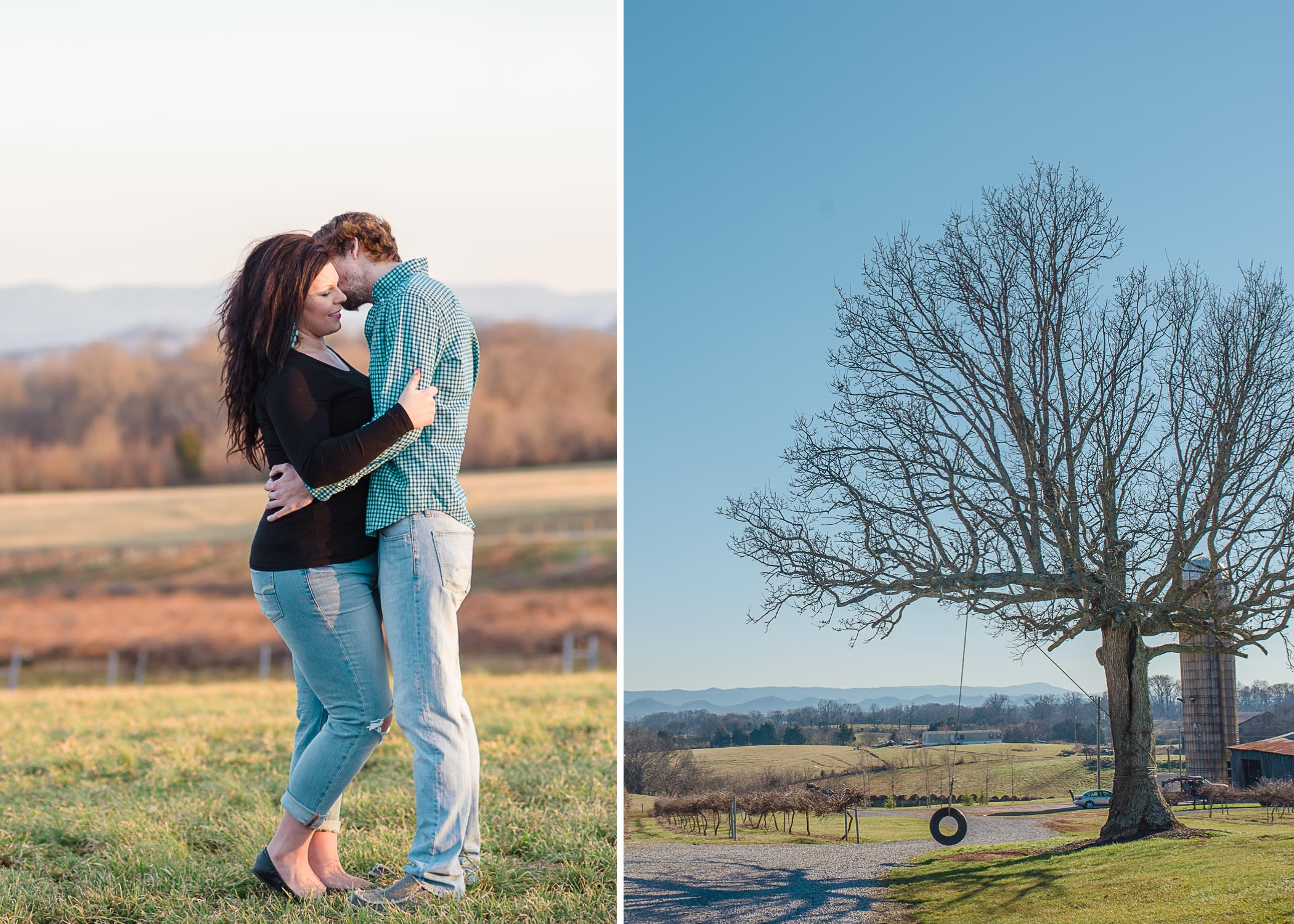 Tsali Notch vineyard Madisonville TN Engagement photos