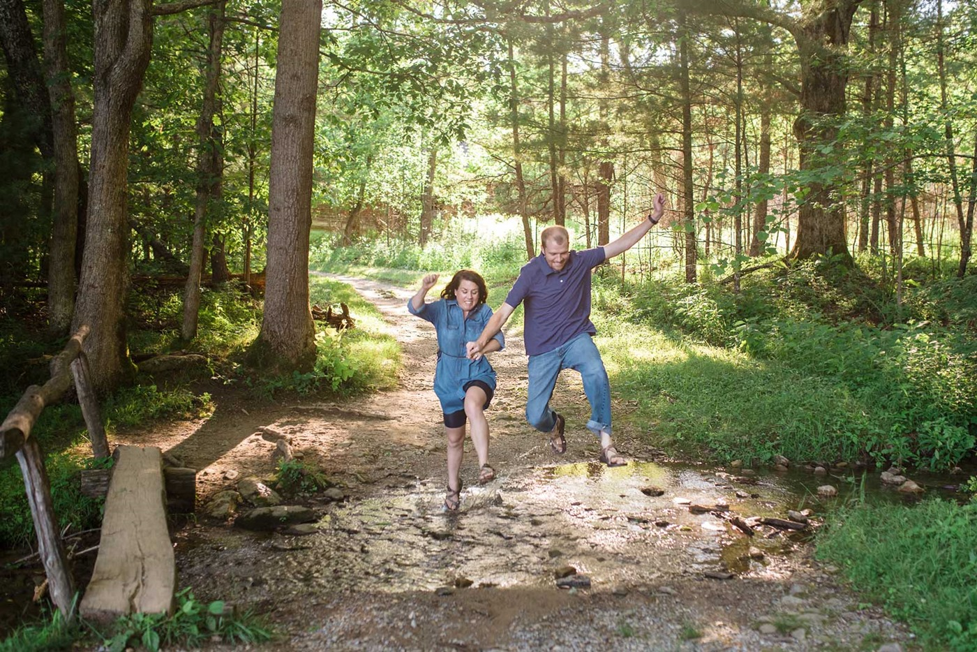 cades-cove-engagement-jumping across stream