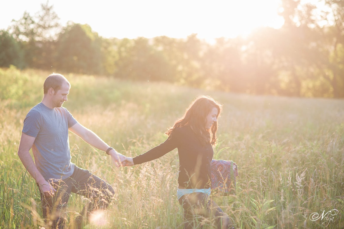 cades cove spring engagement-sunset