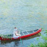 Hiwassee River Weddings Delano TN | Canoe wedding