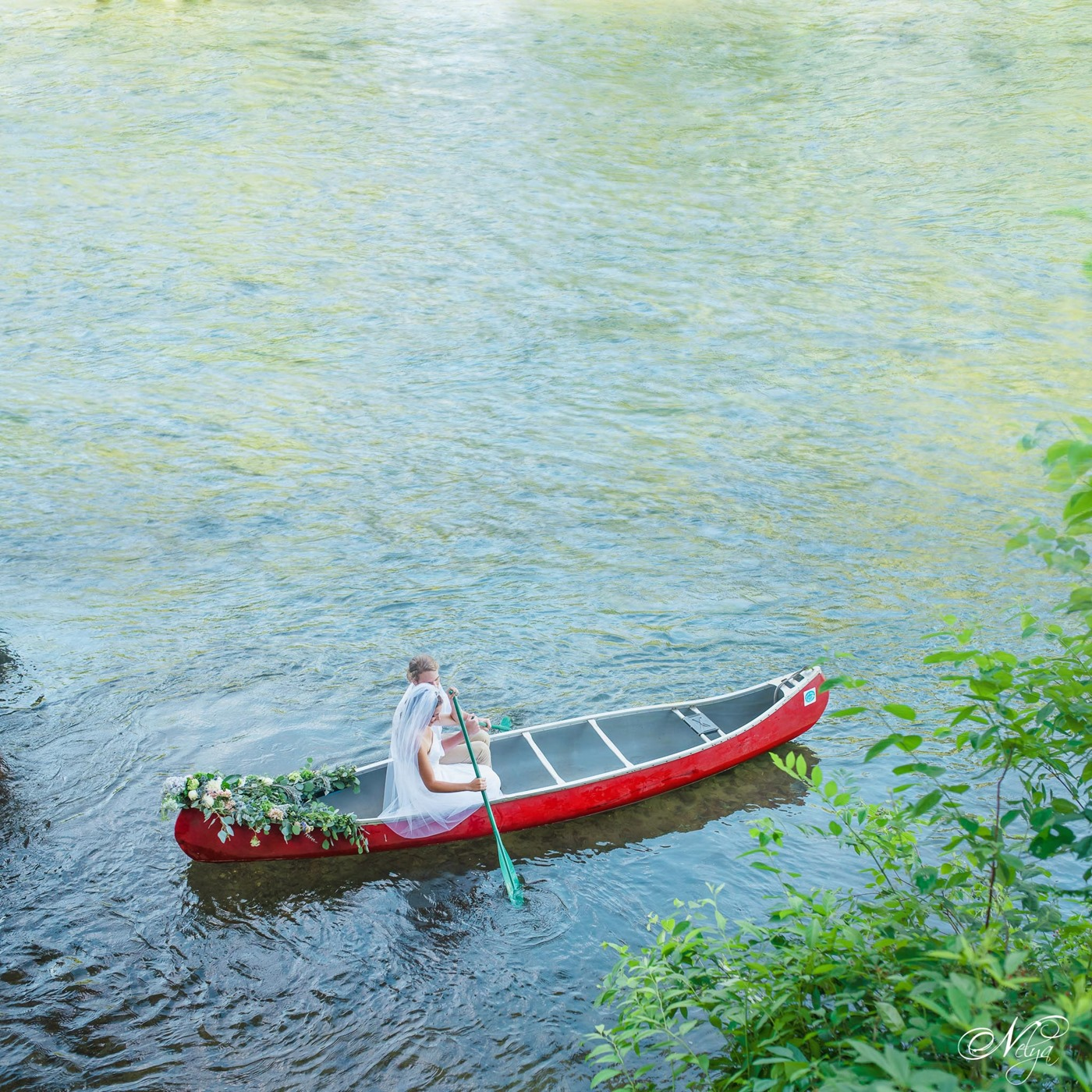 hiwassee river weddings canoe wedding--2