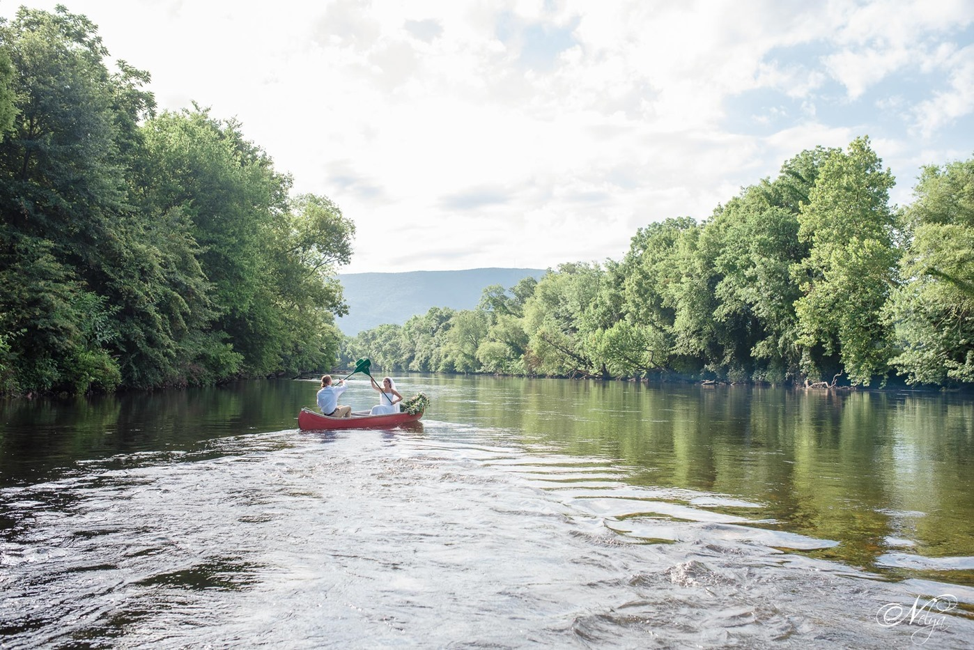 hiwassee river weddings canoe wedding-4219