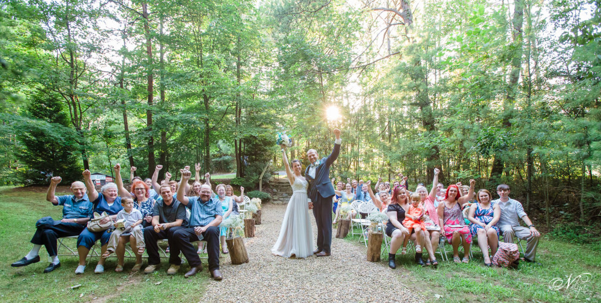 celebrationg marriage at sampsons Hollow