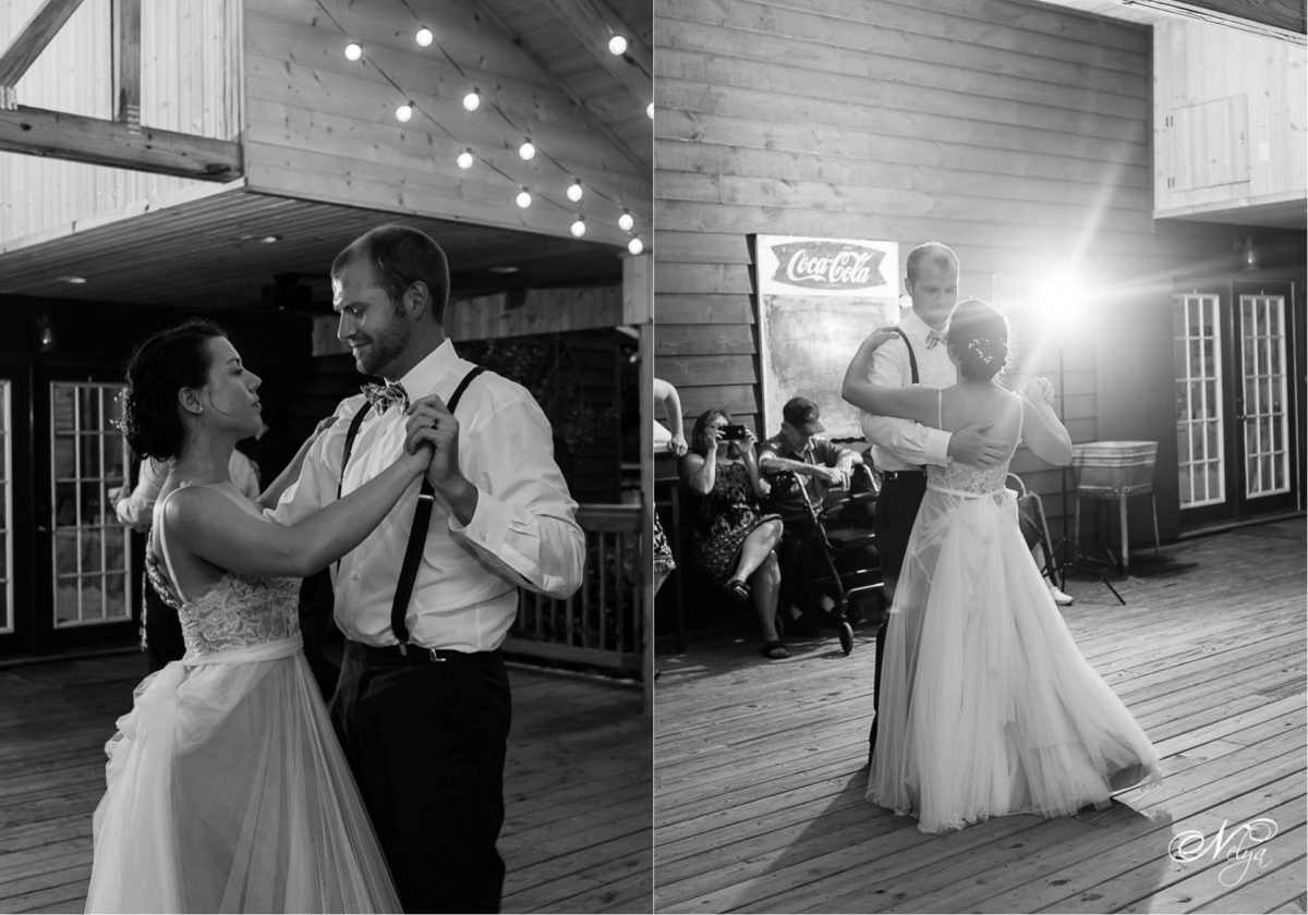 first dance on the porch at Sampsons hollow Wallend TN