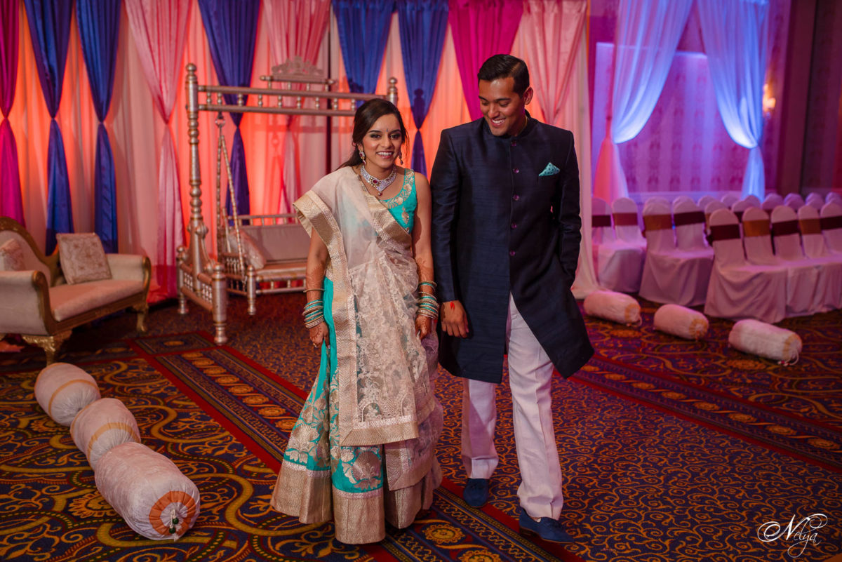 griffin gate grand ballroom bride and groom walking in