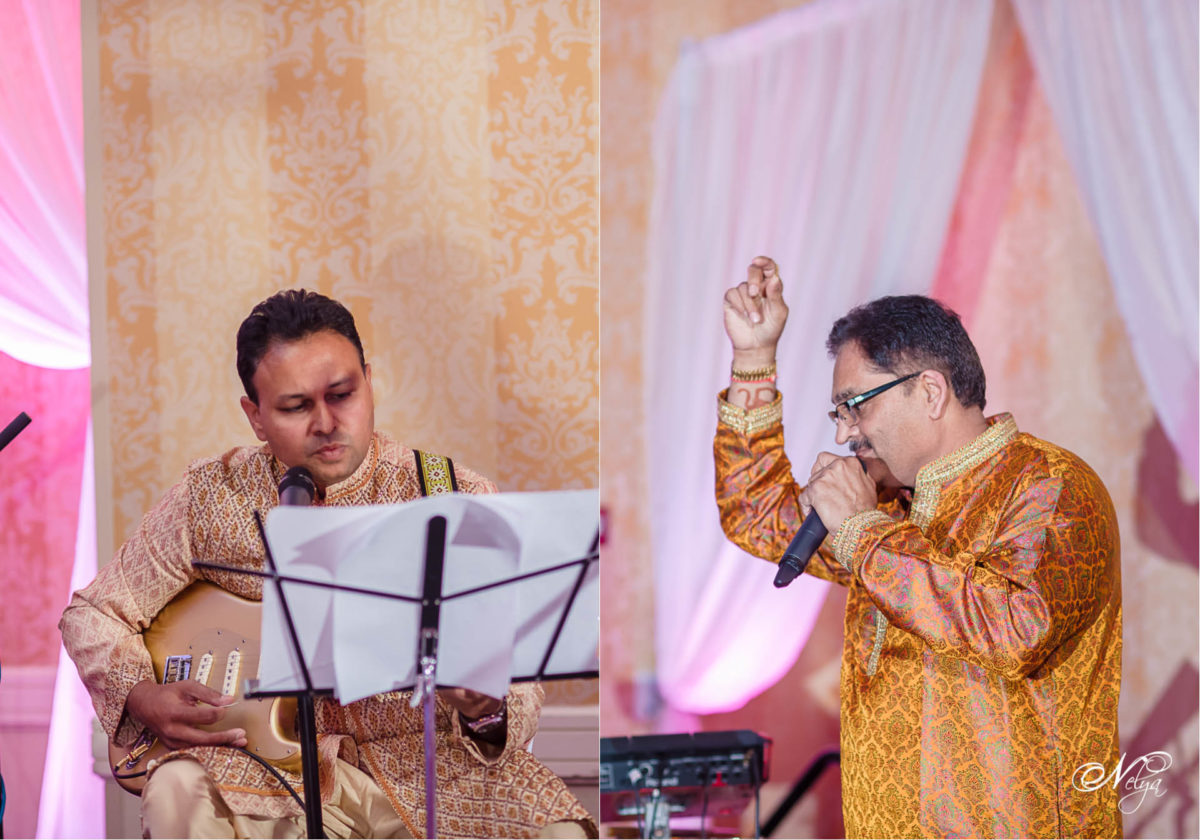 uncles play music and give speach at griffin gate mariott wedding