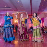 sangeet dances in the grand ballroom at griffin gate Marriott