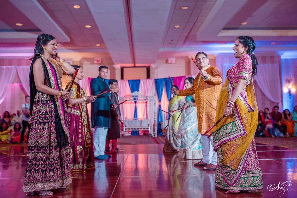 guests ready to start dandiya dance