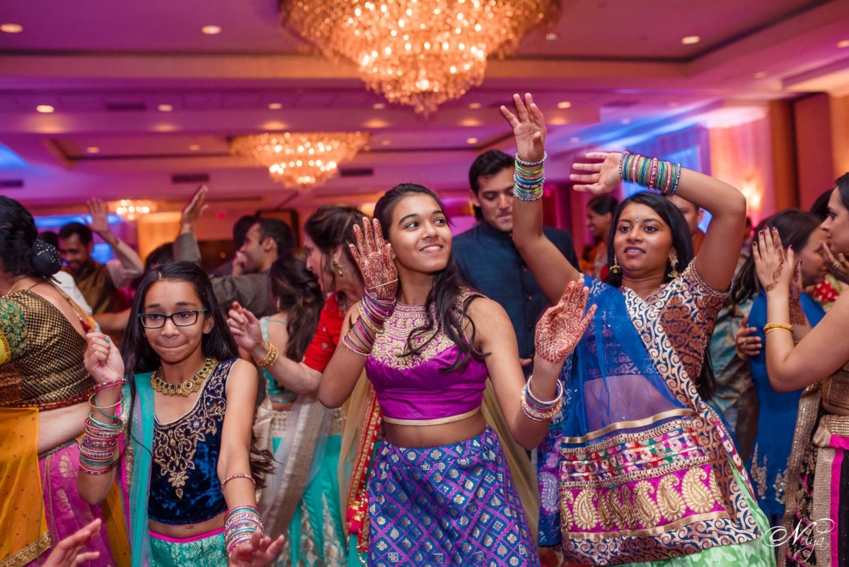 view from inside the garba circle at griffin gate marriott wedding