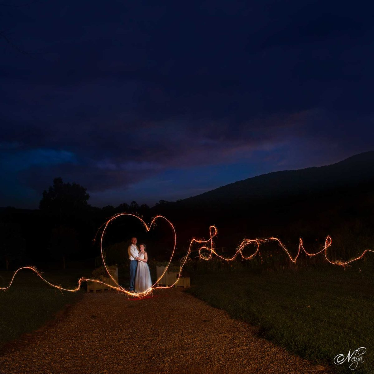 wedding sparkler writing