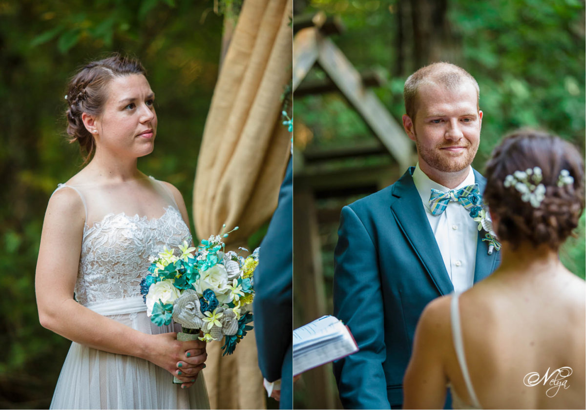 getting hitched at sampson hollow in the smoky mountains