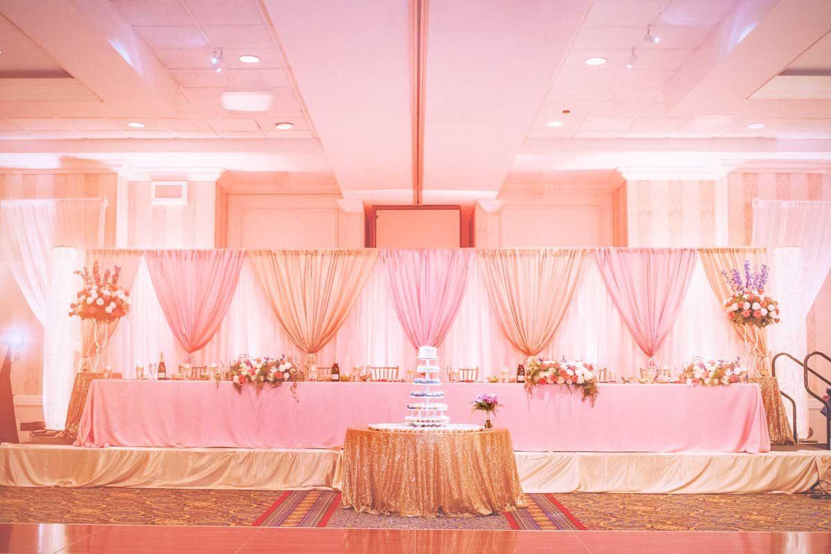 griffin gate wedding reception in pink