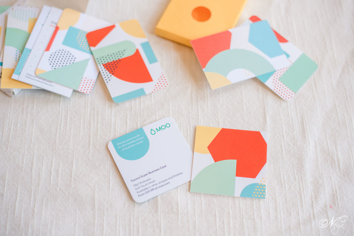 Custom Card Template business cards moo : Moo business cards : Before and after