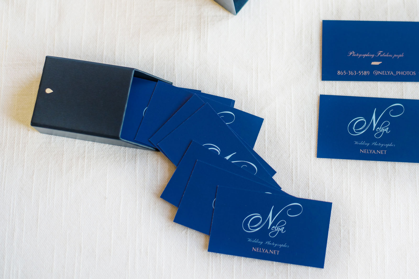blue original business cards