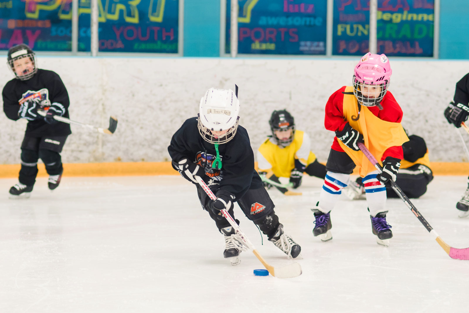 Knoxville Youth Hockey mini mites practice at CoolSports in Farragut TN