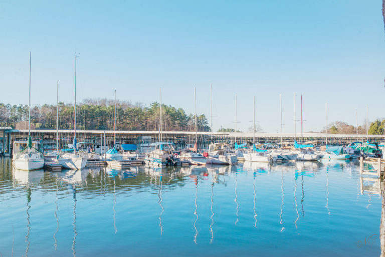 boats in the Marina at lake Loudon in Lenoir City TN