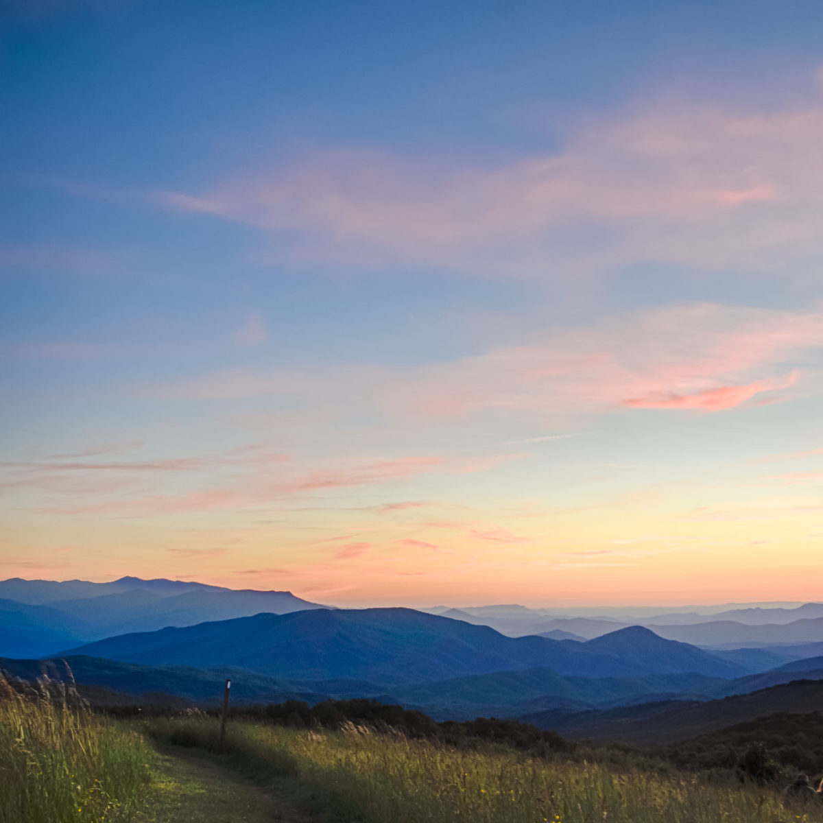 sunrise from the top of Max Patch