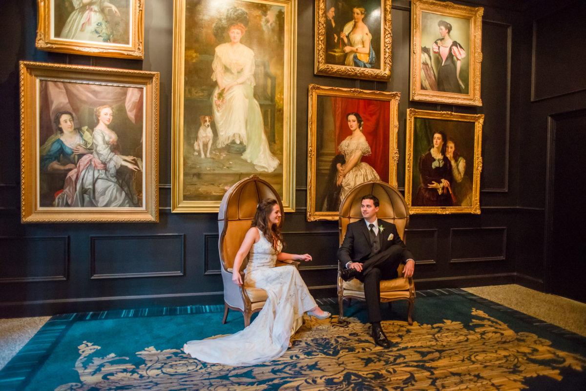 Wedding couple enjoying a moment at Ritz Carlton