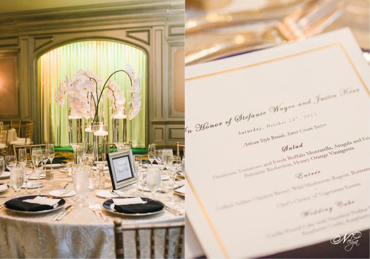 ritz carlton wedding reception Atlanta tablescapes