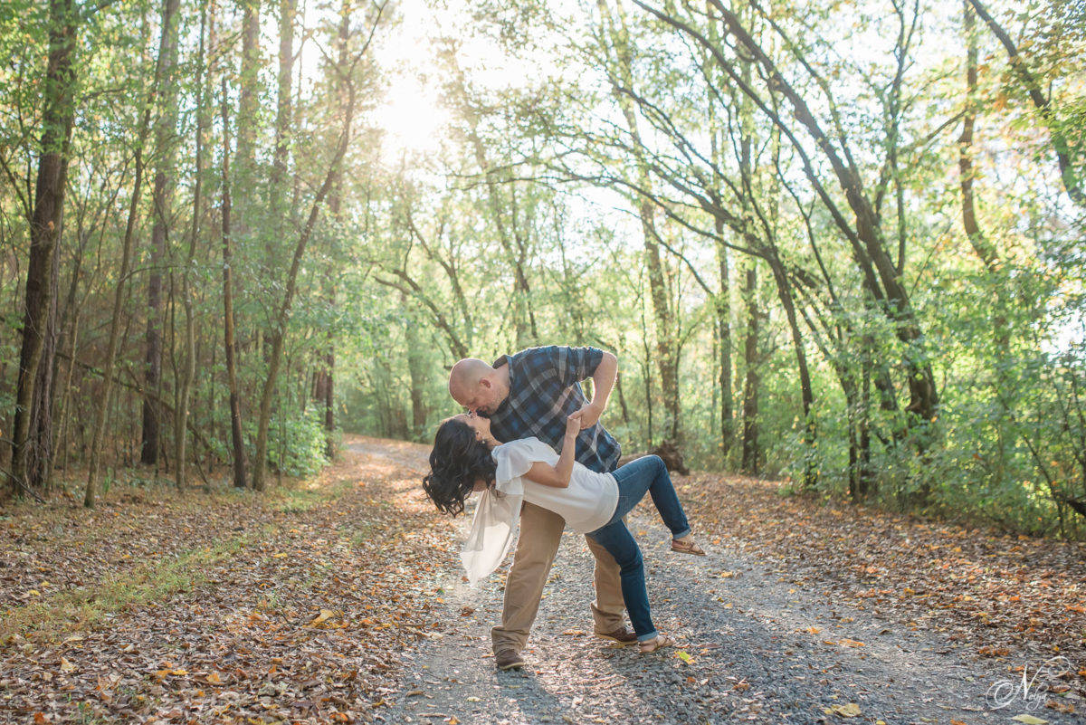 couple dancing during engagement photos at Hiwassee River Weddings and Events in Delano TN