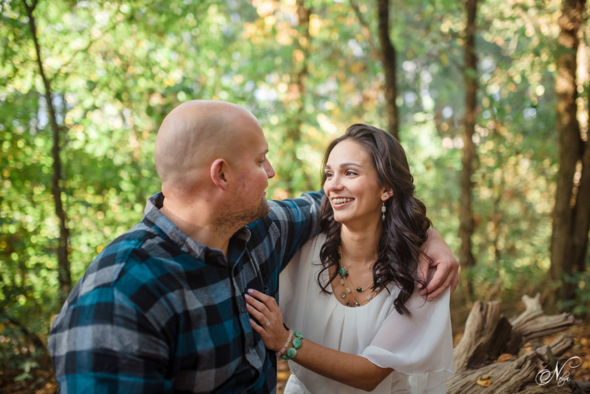 sitting engagement photo at Hiwassee River weddings