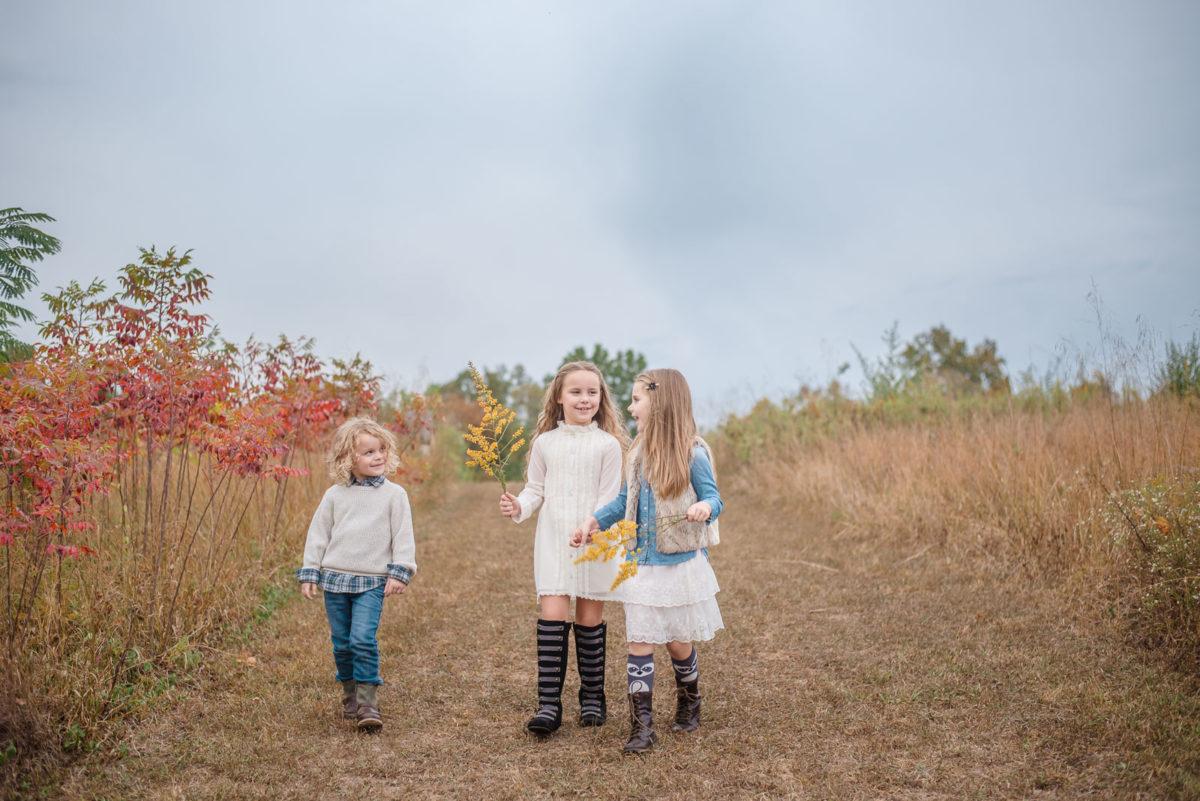 kids on walking trails Melton Hill Park Knoxville TN