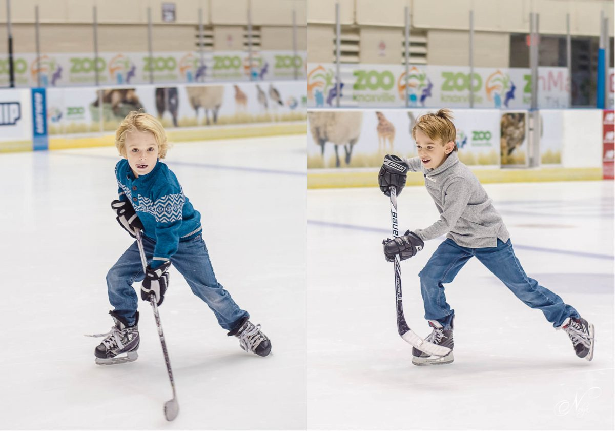 KAHA youth hockey players skating at Knoxville Civic coliseum
