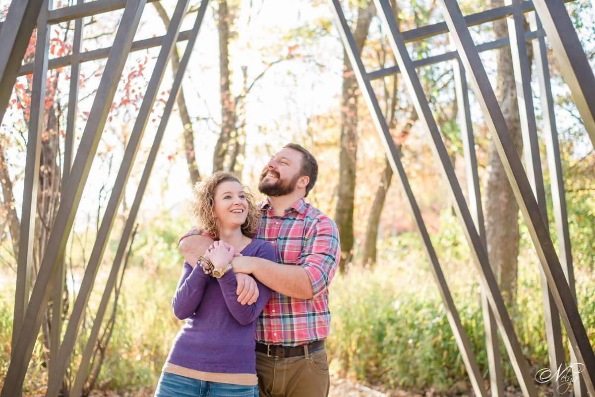 couple on nature trails at Coolidge park in Chattanooga