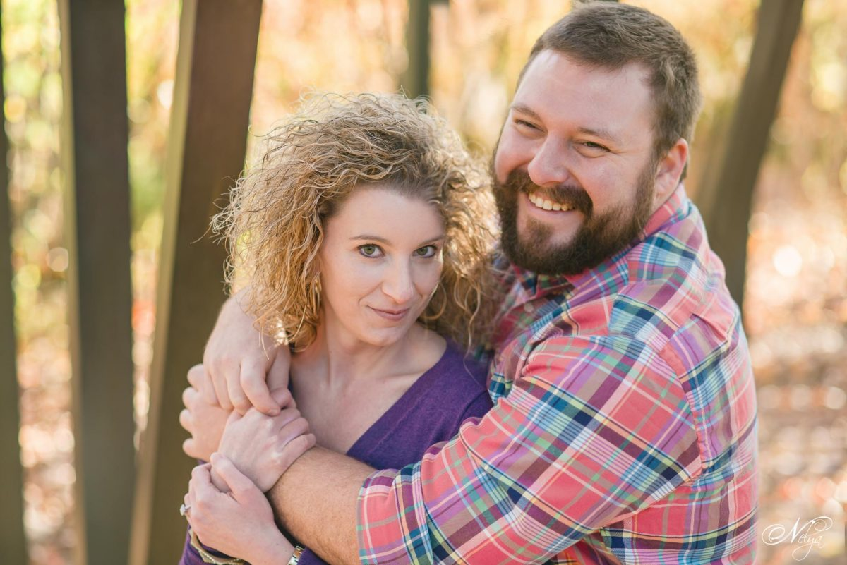 late November engagement photos at Coolidge park