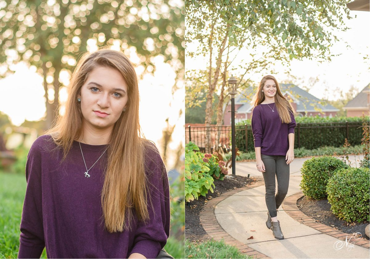 teen girl portraits at sunset in knoxville