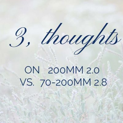 3 thoughts about the 200mm vs 70-200mm
