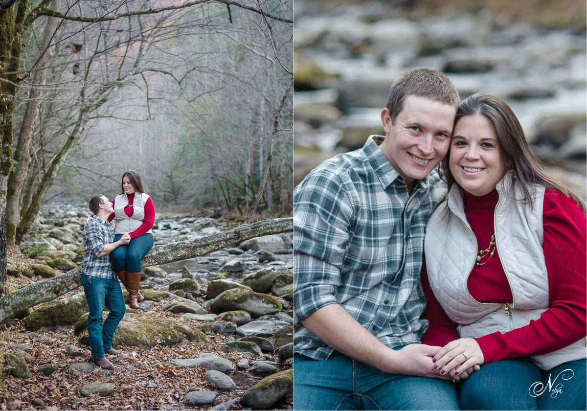 couple at Tremont in the Smoky mountains