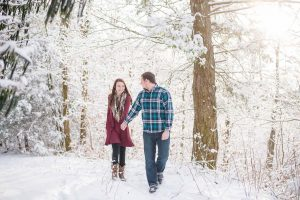 January snow Engagement on the Cherohala Skyway