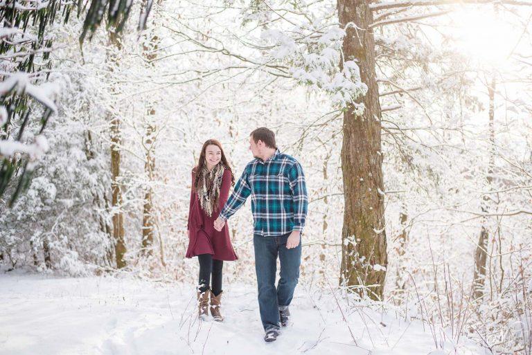 Cherohala Skyway Snow Engagement | Elena and Tyler