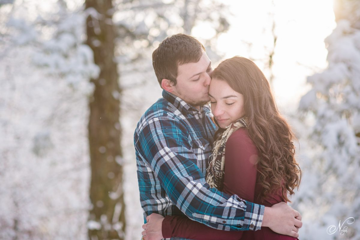 Cherohala Skyway Snow Engagement