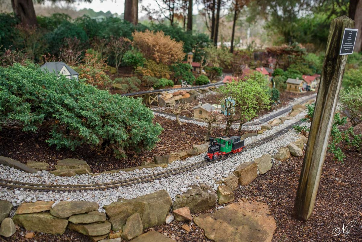 toy train at Huntsville Botanical garden