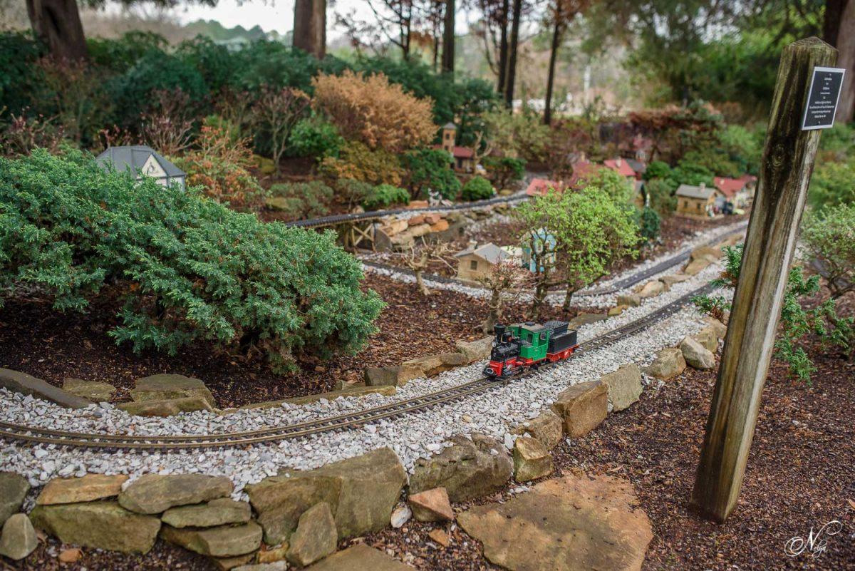 toy train at Huntsville Botanical garden
