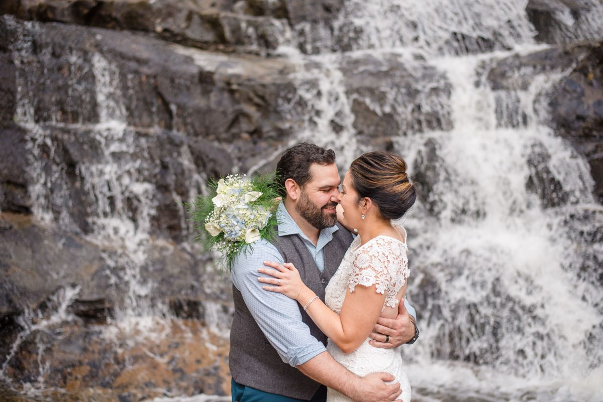 waterfalls elopement | Melissa + Tim