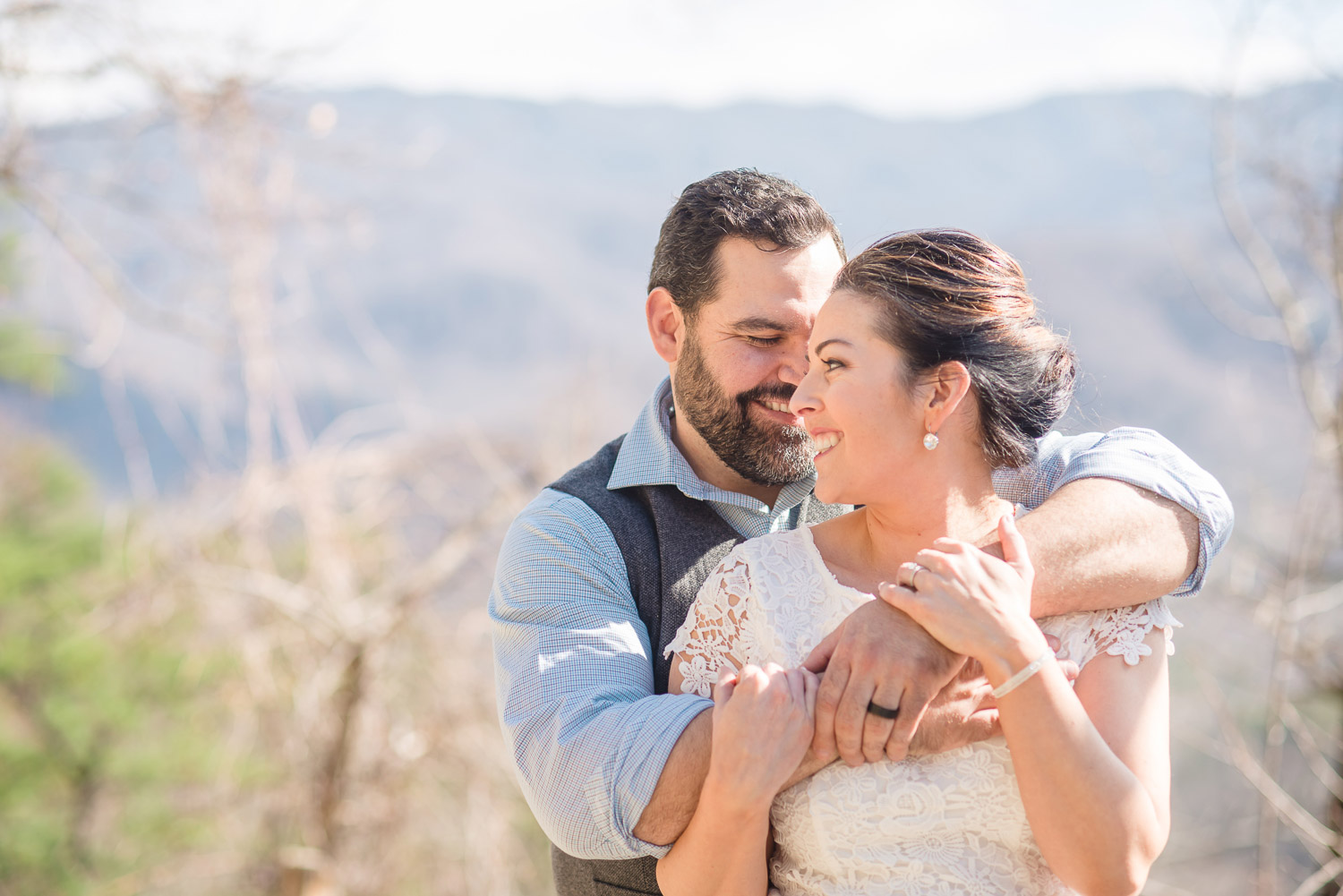 Mountain Waterfalls Elopement Gatlinburg TN | Melissa + Tim